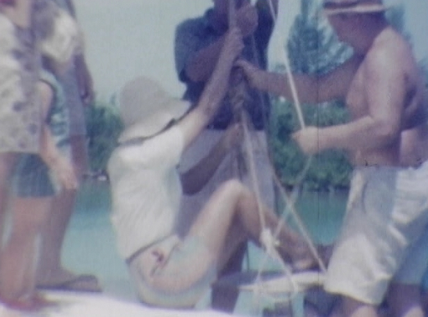 Teddy helping Edna in ballon seat with Wendy Tucker (L).JPG