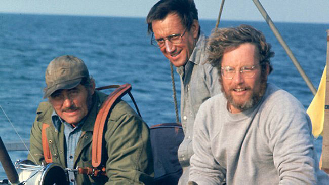 Quint, Brody and Hooper, Jaws, 1975.