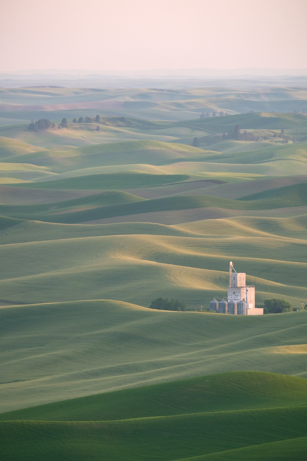 Dusk views from Steptoe Butte State Park, Washington.