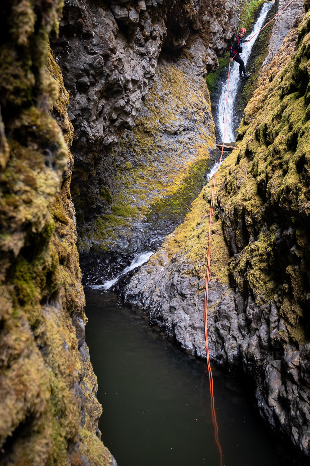 The second rappel on Devils Creek