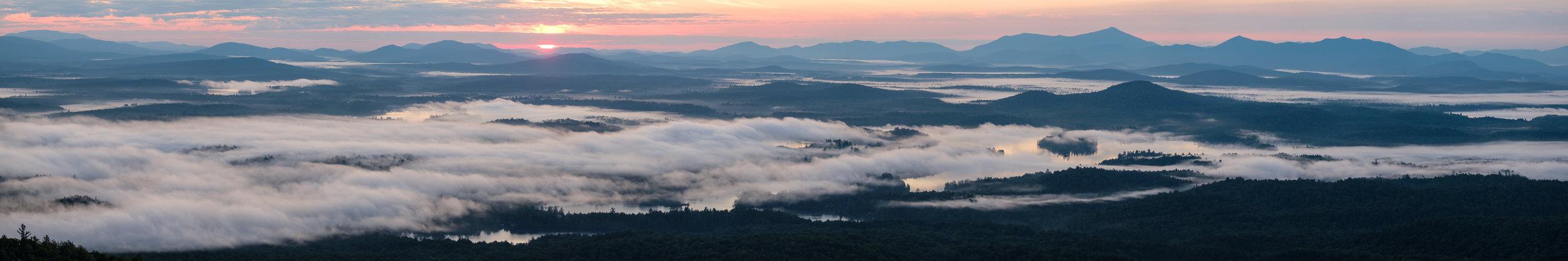 Sunrise from the Saint Regis Mountain firetower.