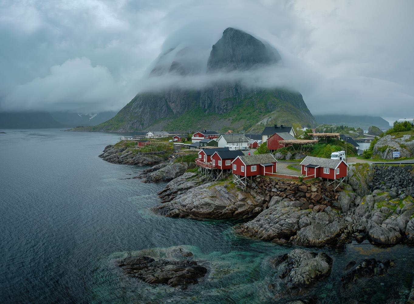 The small hamlet of Hamnoy, Lofoten Archipelago, Norway.