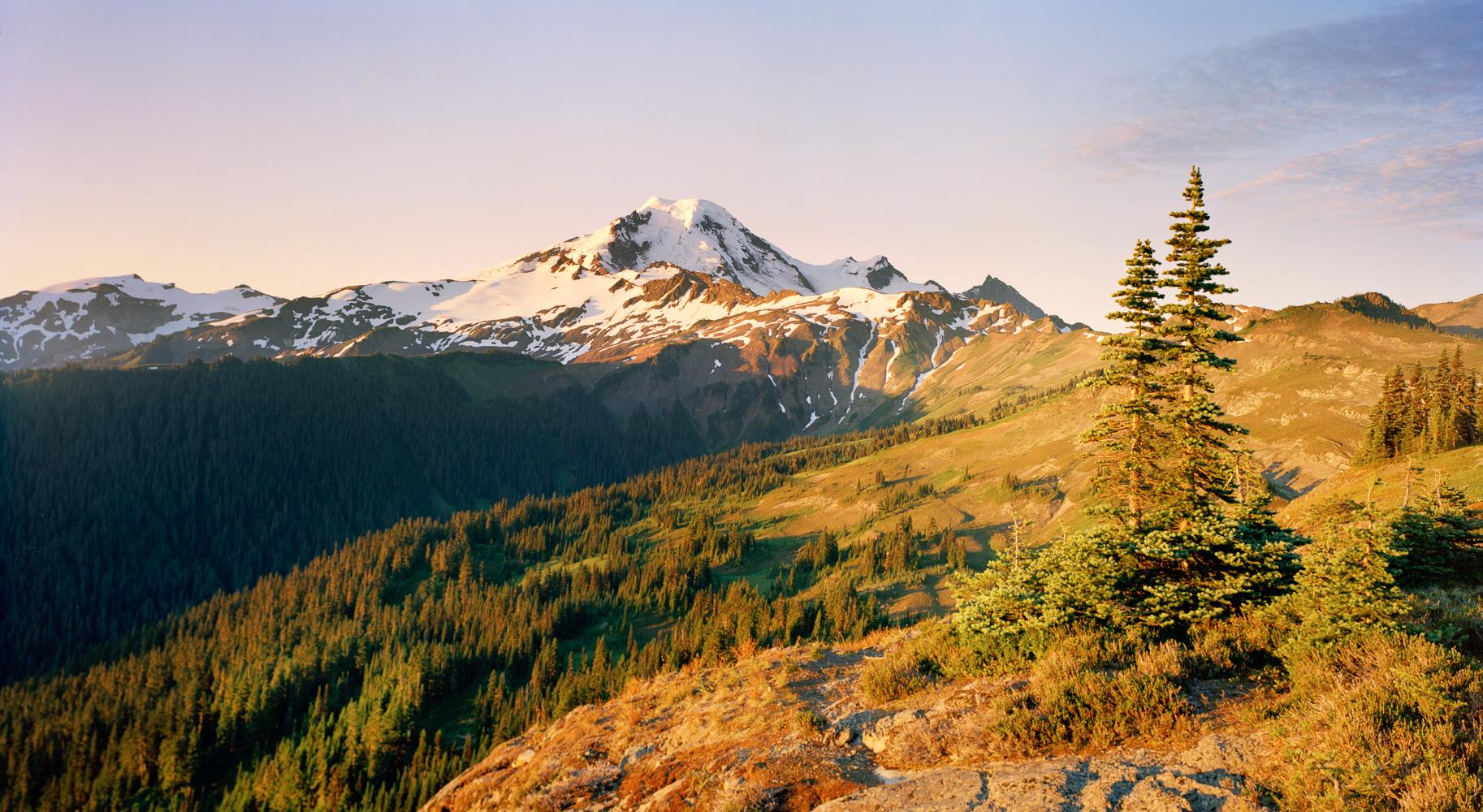 Sunrise on Mount Baker. Ektar 100, 4x5.