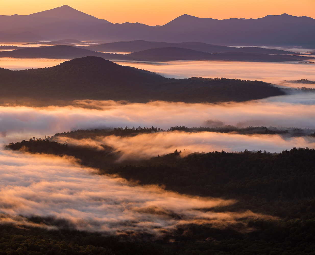 Sunrise from Saint Regis Mountain