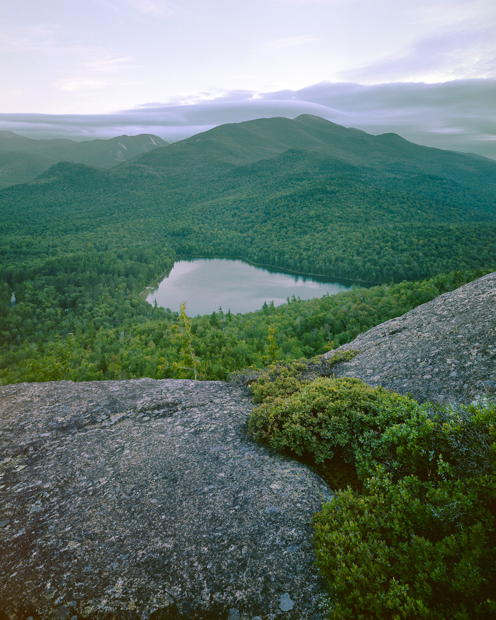 Algonquin and Heart Lake from Mount Jo, High Peaks Wilderness, NY. Portra 160, 4x5.
