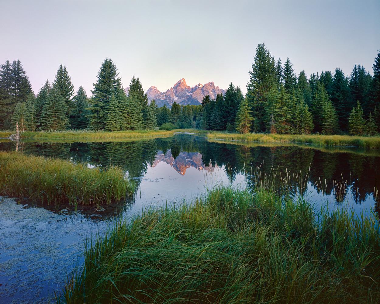 Dawn on the Grand Teton. Ektar 100, 4x5.