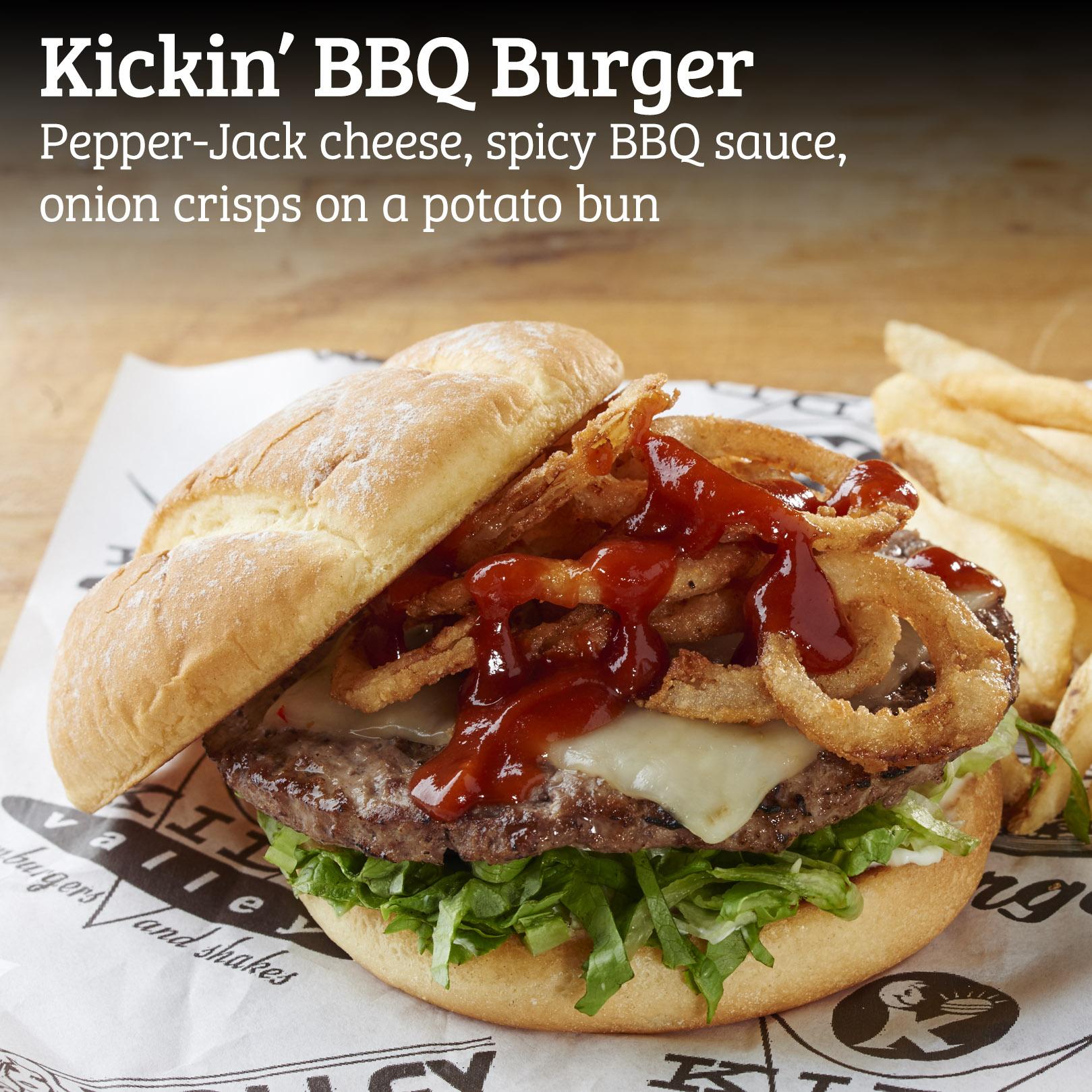 Kidd Valley Kickin' BBQ Burger