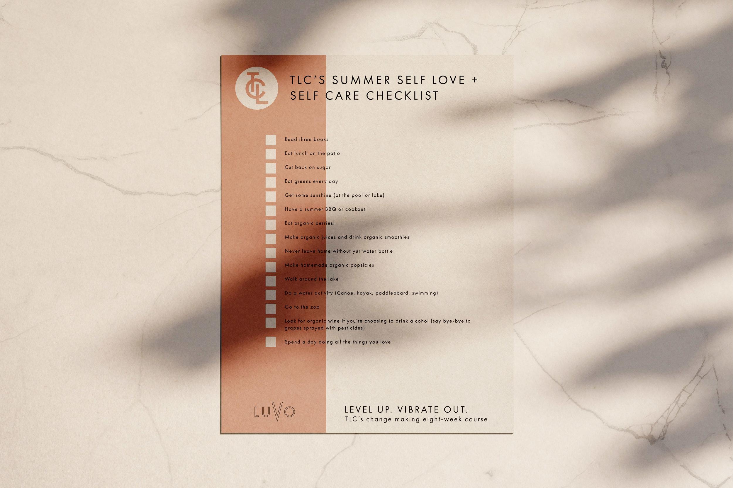 Summer Self Love + Self Care Checklist
