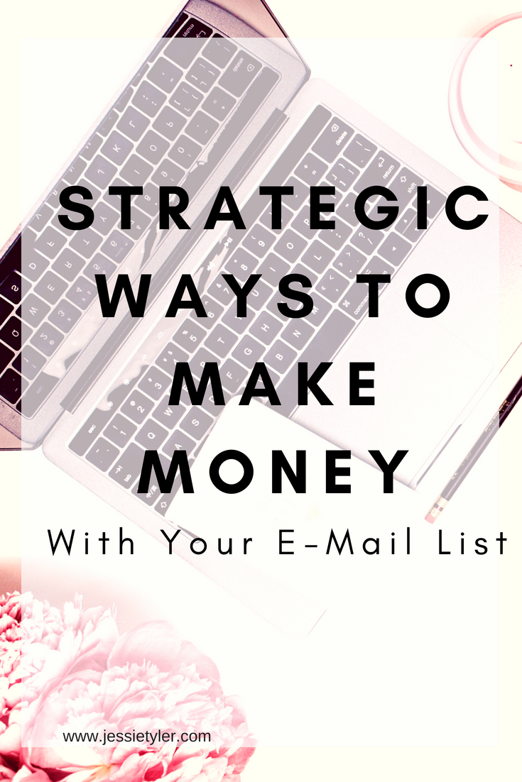 Strategic ways to make money with your email listjpg