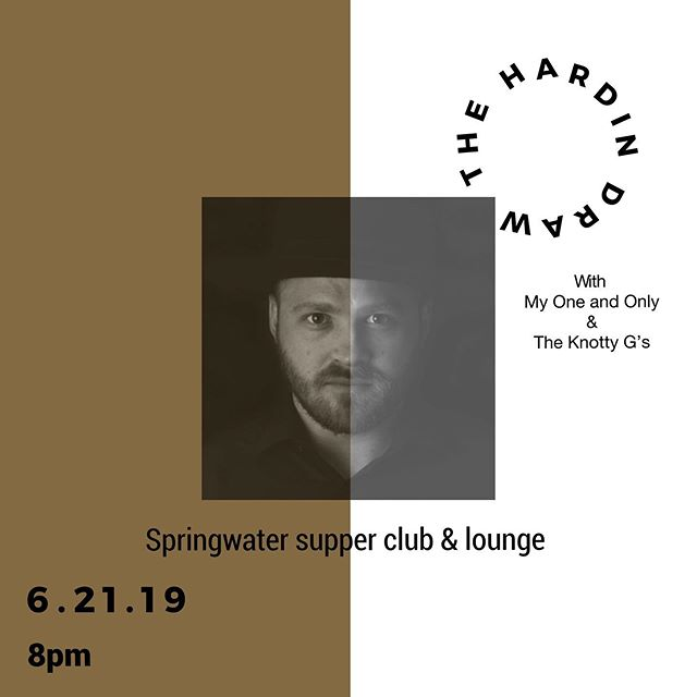 Come see us this Friday at Springwater w/ My One and Only and The Knotty G's! Doors at 8pm . . . . . . #thehardindraw #theknottygs #myoneandonly #springwater #nashville #diy #music #band #suportlocalmusic #musiccity #tennessee #summer #solstice #nashvillepride #americana #folk #roots #rock #bluegrass