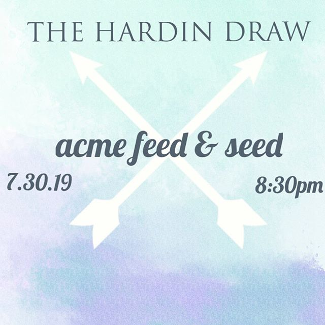 We've got another Nashville show this week at @acmenashville for Americana night! Come hang out downtown with us! This Tuesday 830-1030 . . . . . . #thehardindraw #acmefeedandseed #nashville #tennessee #musiccity #lowerbroadway #americana #folk #roots #bluegrass #indie #rock #taylorguitars