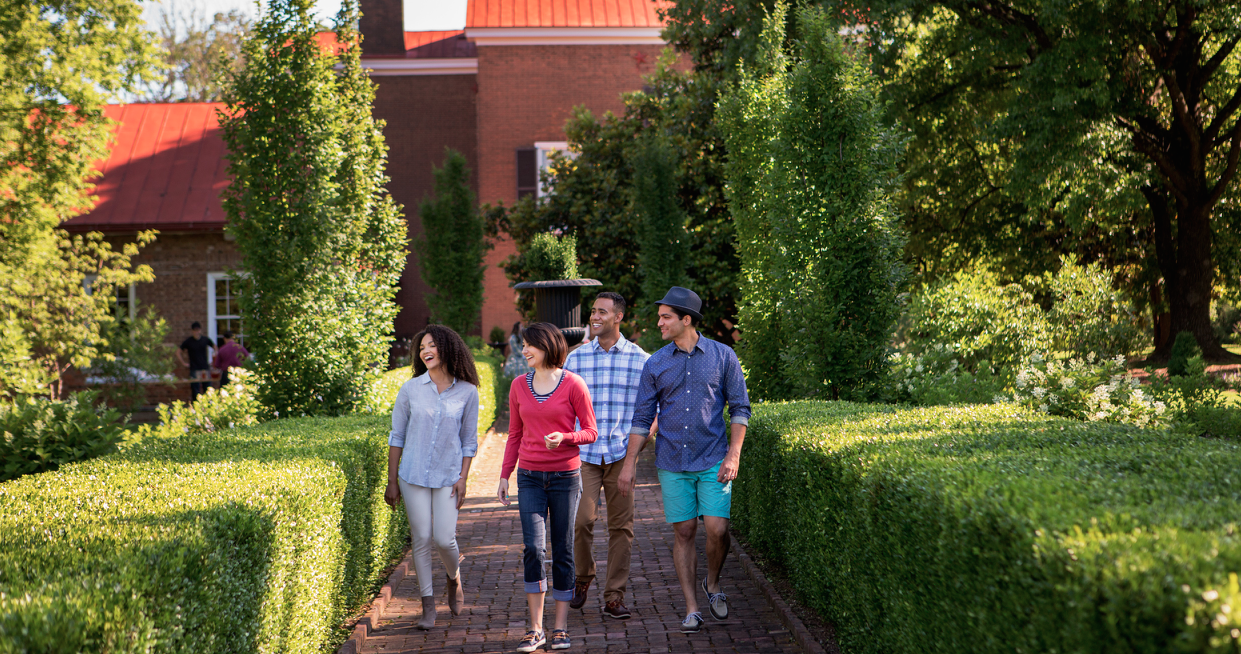 Beautiful gardens and Historic Buildings   ACRES TO WANDER    Tour the Plantation