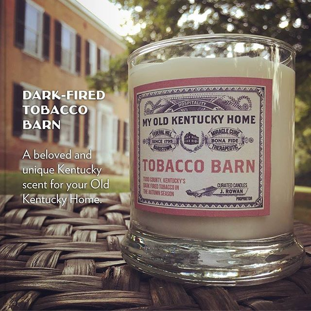 Its's finally feeling like FALL!  Now you can capture the smell of Fall with our exclusive Tobacco Barn Candle. Available online and we will ship it to you! www.mokhshop.com
