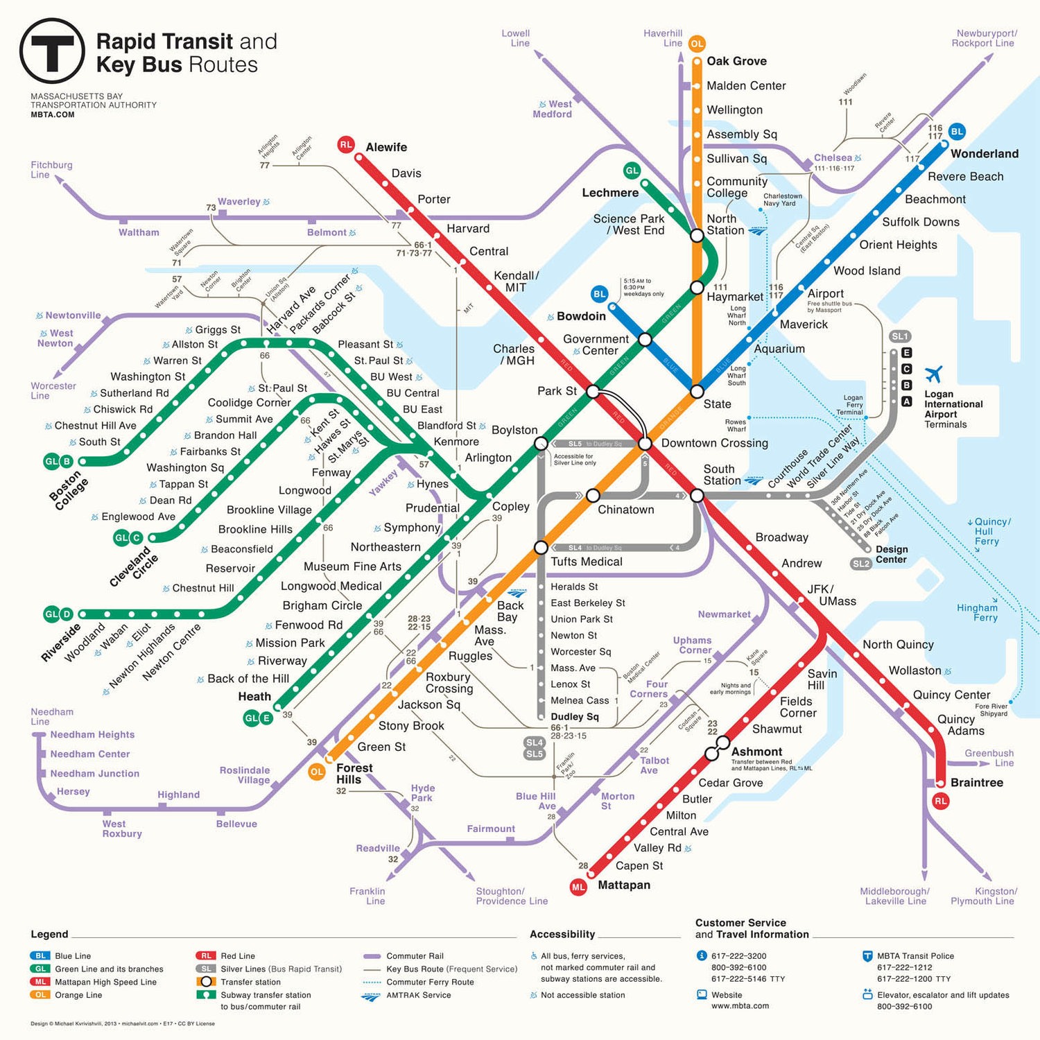 Subway Map Planner.Subway Local Bus South Station