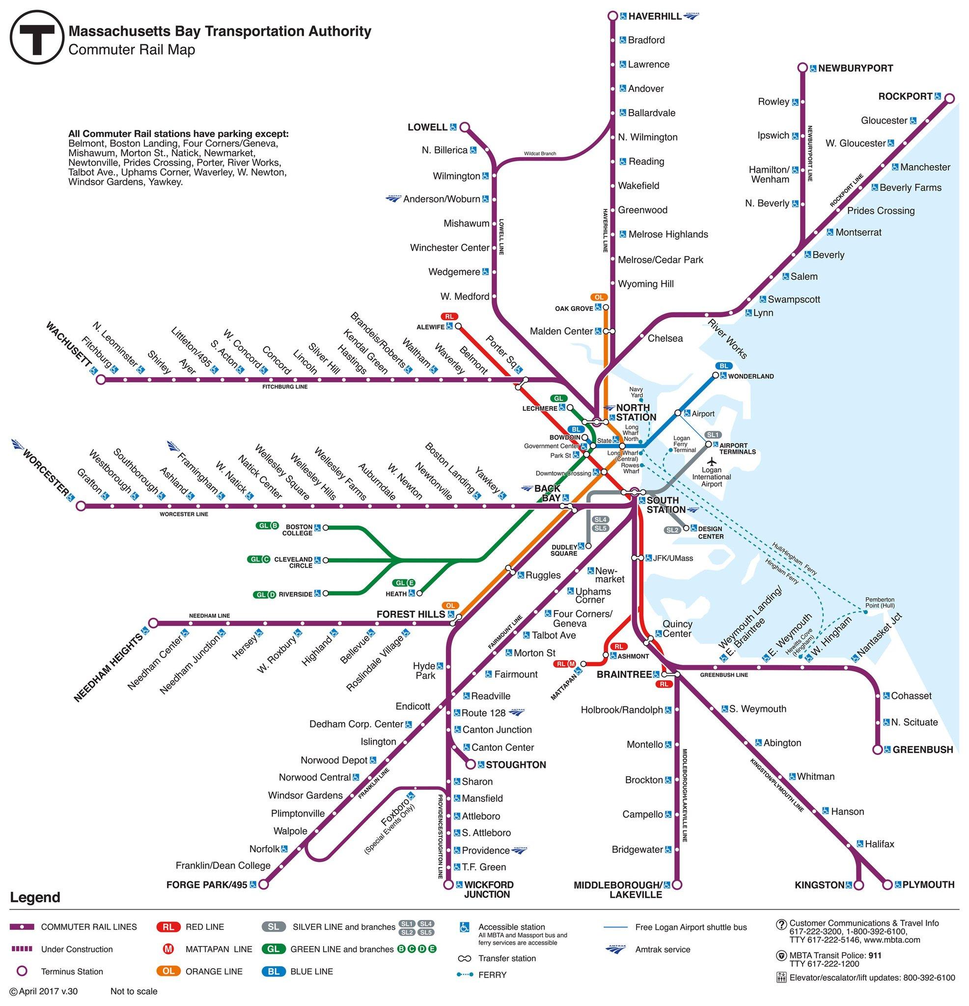 Mtb Subway Map Boston.Train South Station
