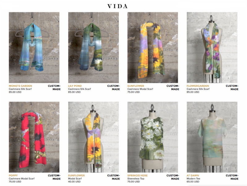 Angie's NEW Wearable Art!  I am pleased to announce that you will now be able to order my art  on a variety of scarves and tops in a choice of fabrics!  SHOP HERE:  http://shopvida.com/collections/voices/angie-strauss