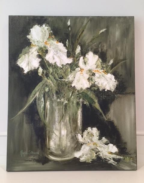 'Midnight Iris' 20x24 original oil commission