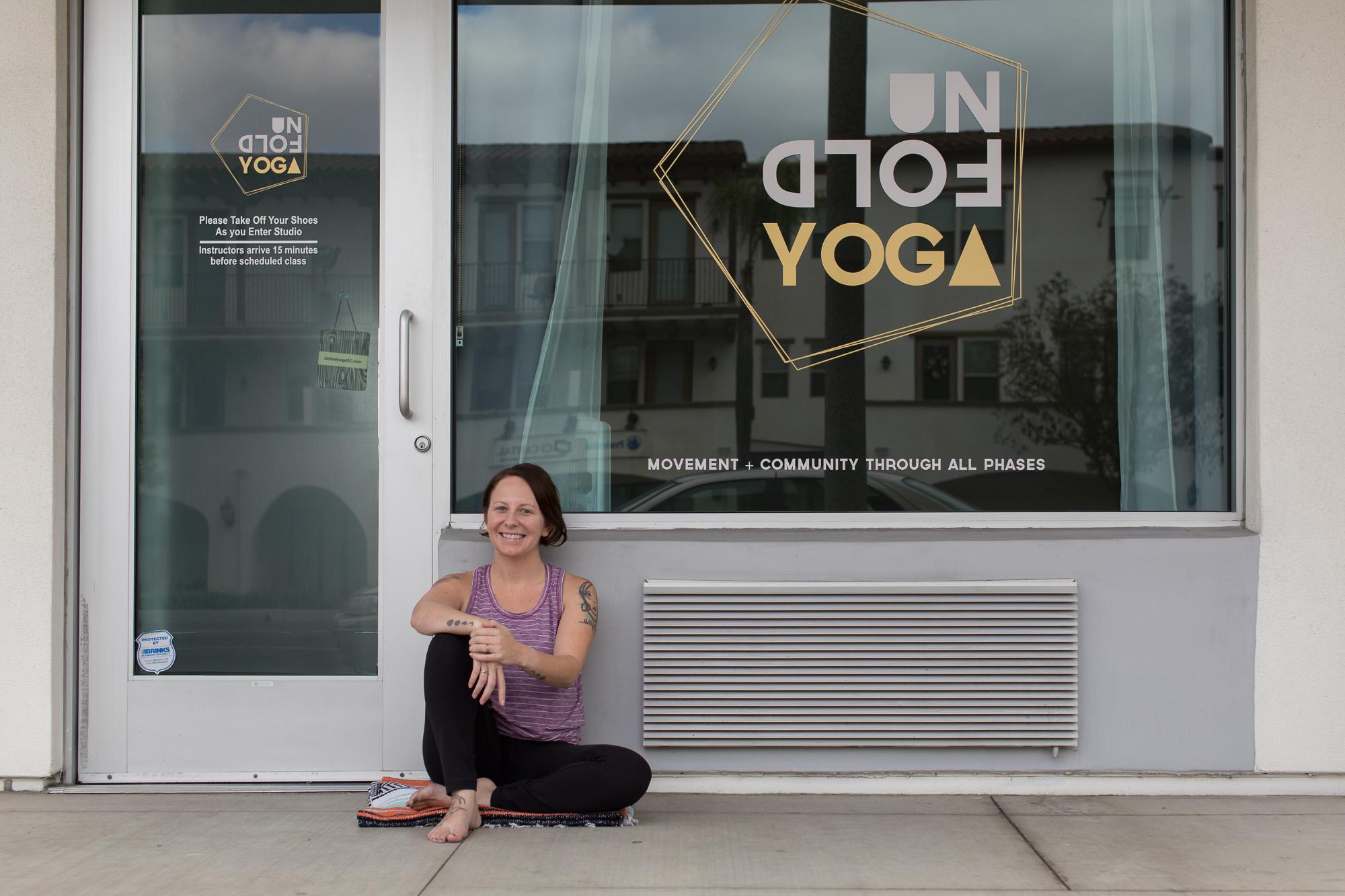 April Lovett, Founder of Unfold Yoga