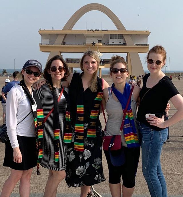 """#WhereInTheWorldIsGWiB 🌍 Second years are busy this week with #msbglobal so we asked them to share some of their stories with us! """"My global group is a powerhouse of females- only all-lady group in all of global. Our project is women's economic empowerment for female cocoa farmers in Ghana! We got a tour and even got to help crack cocoa pods and make fufu!"""" - Lauren"""