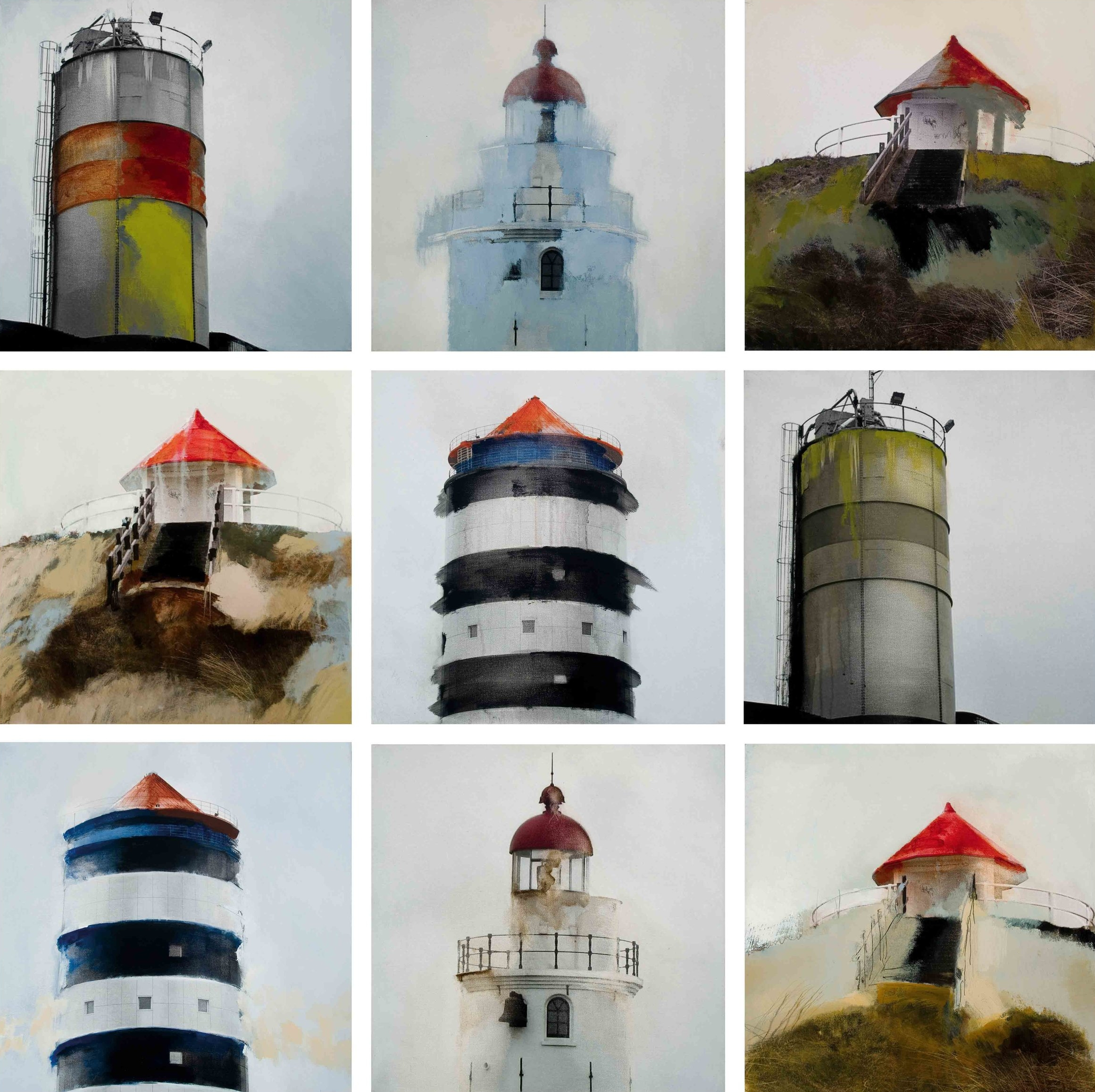 Faros, torres y chimeneas - series