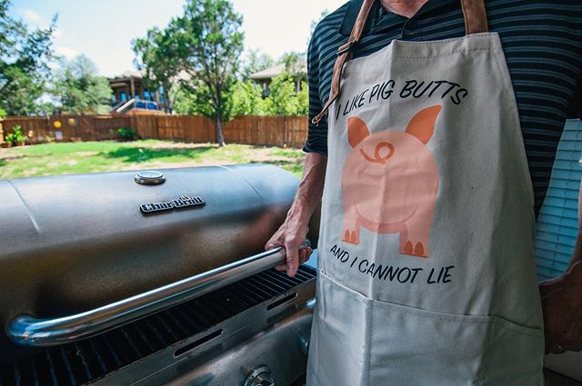 Happy Fathers Day to all the Fathers out there!  Are you BBQing in our new Bespoke Aprons available at Nordstrom Rack?