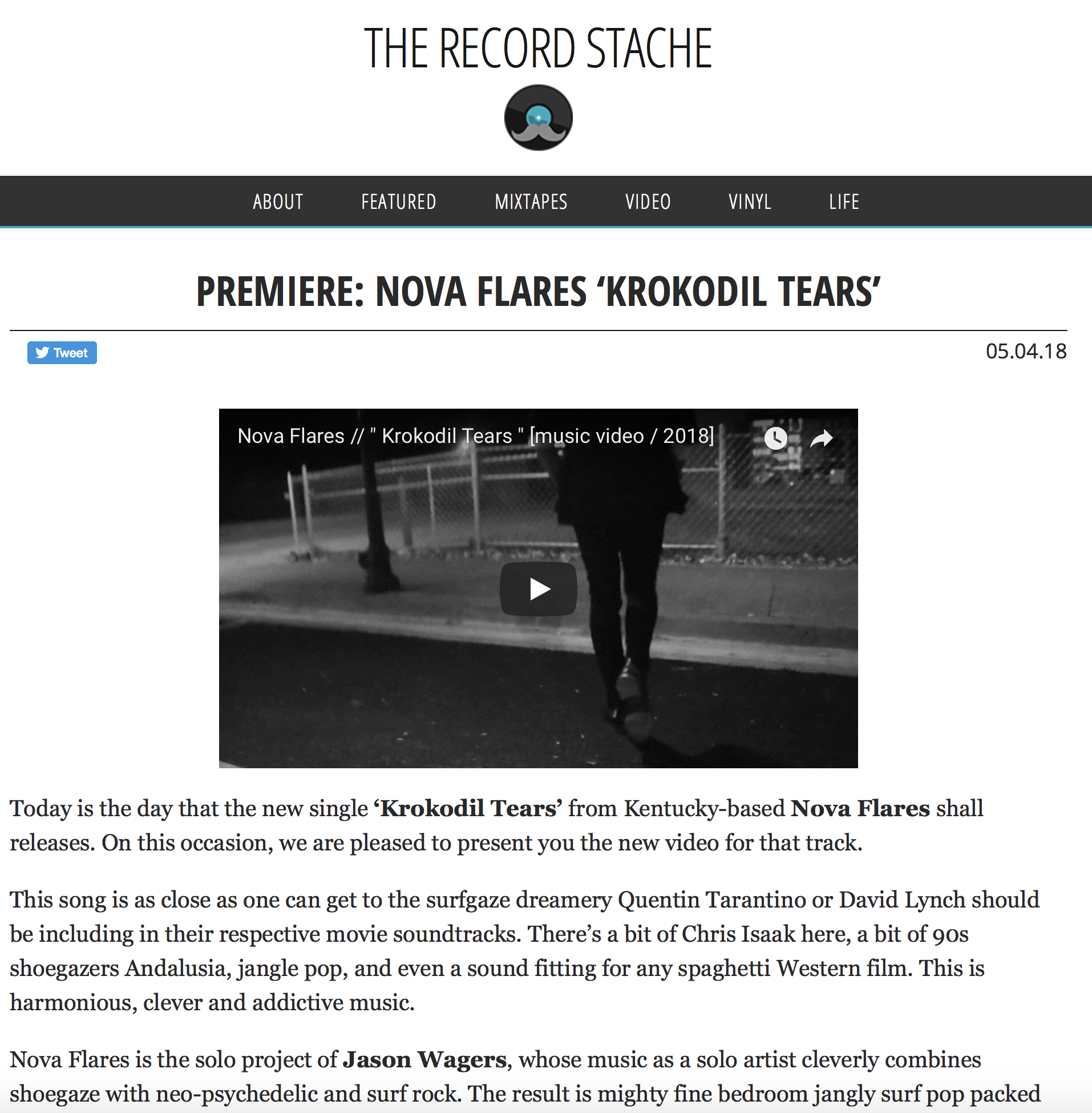 "The Record Stache : ""Krokodil Tears"" Review"