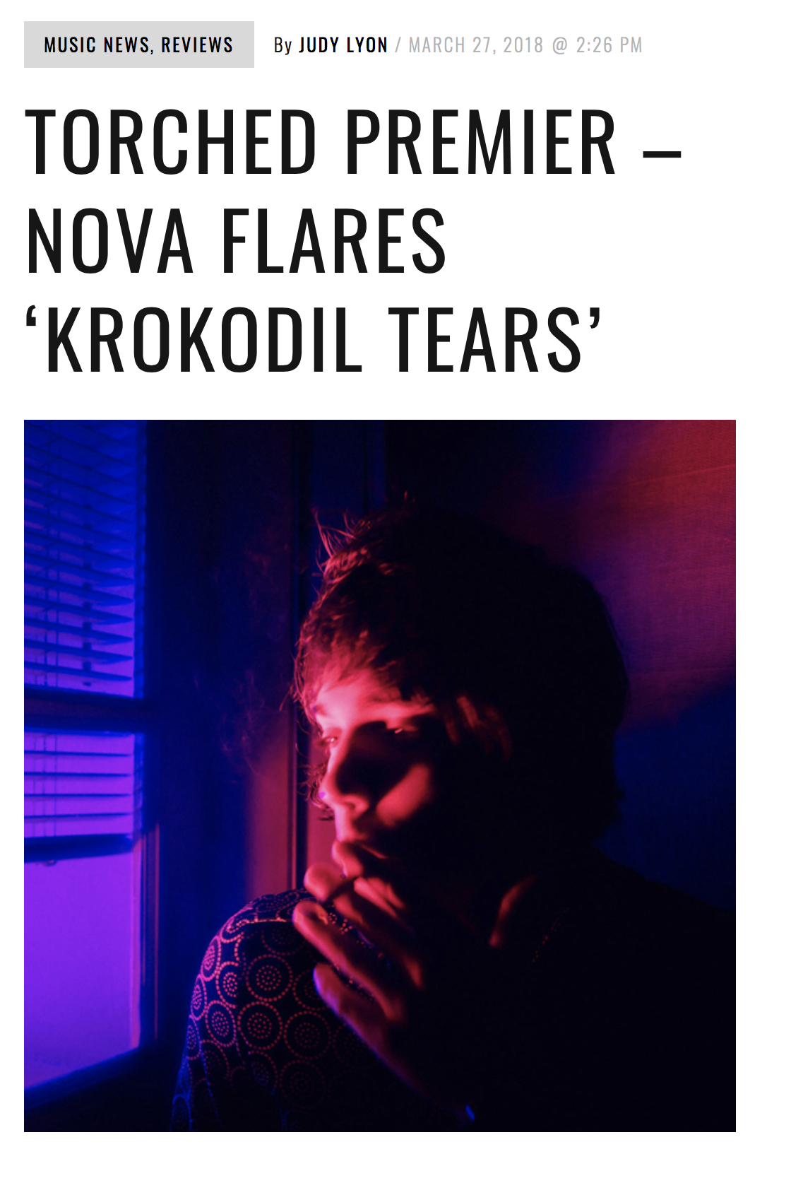 "TORCHED Magazine : ""Krokodil Tears"" Review"