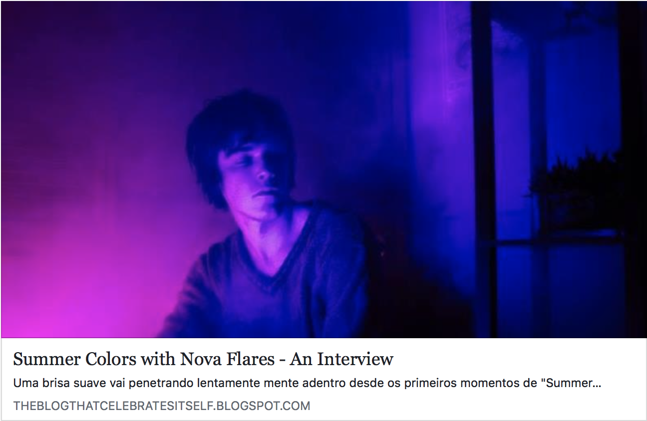 The Blog That Celebrates Itself : Nova Flares Interview