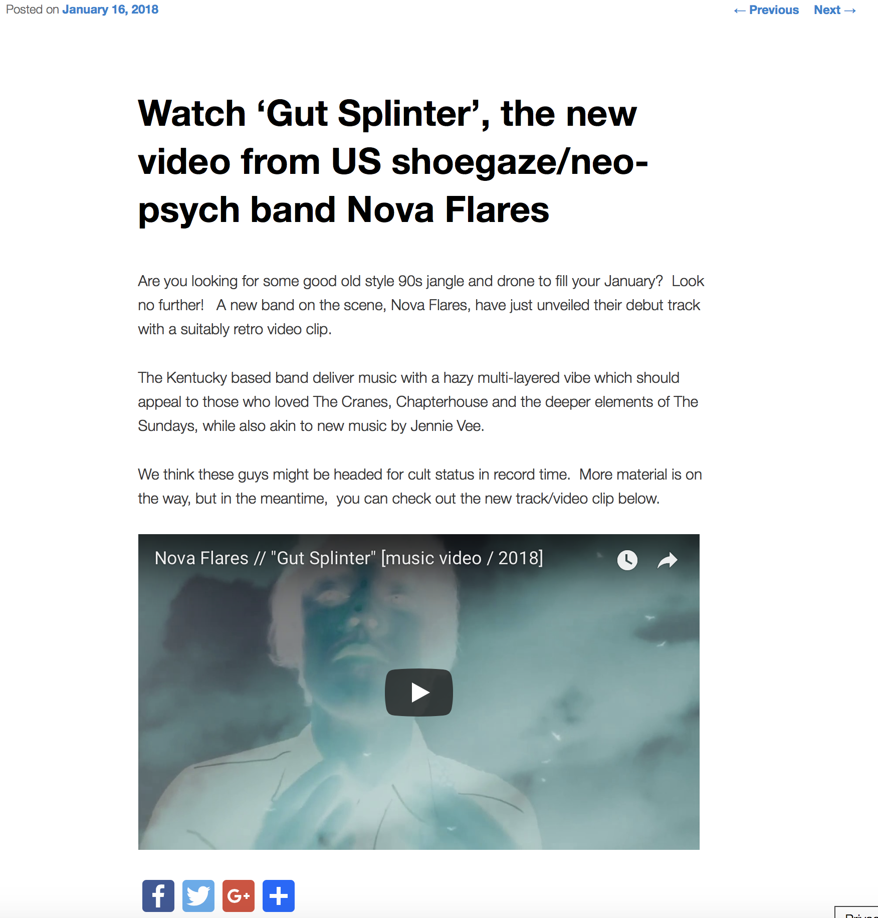 "Real Gone : ""Gut Splinter"" Music Video Review"