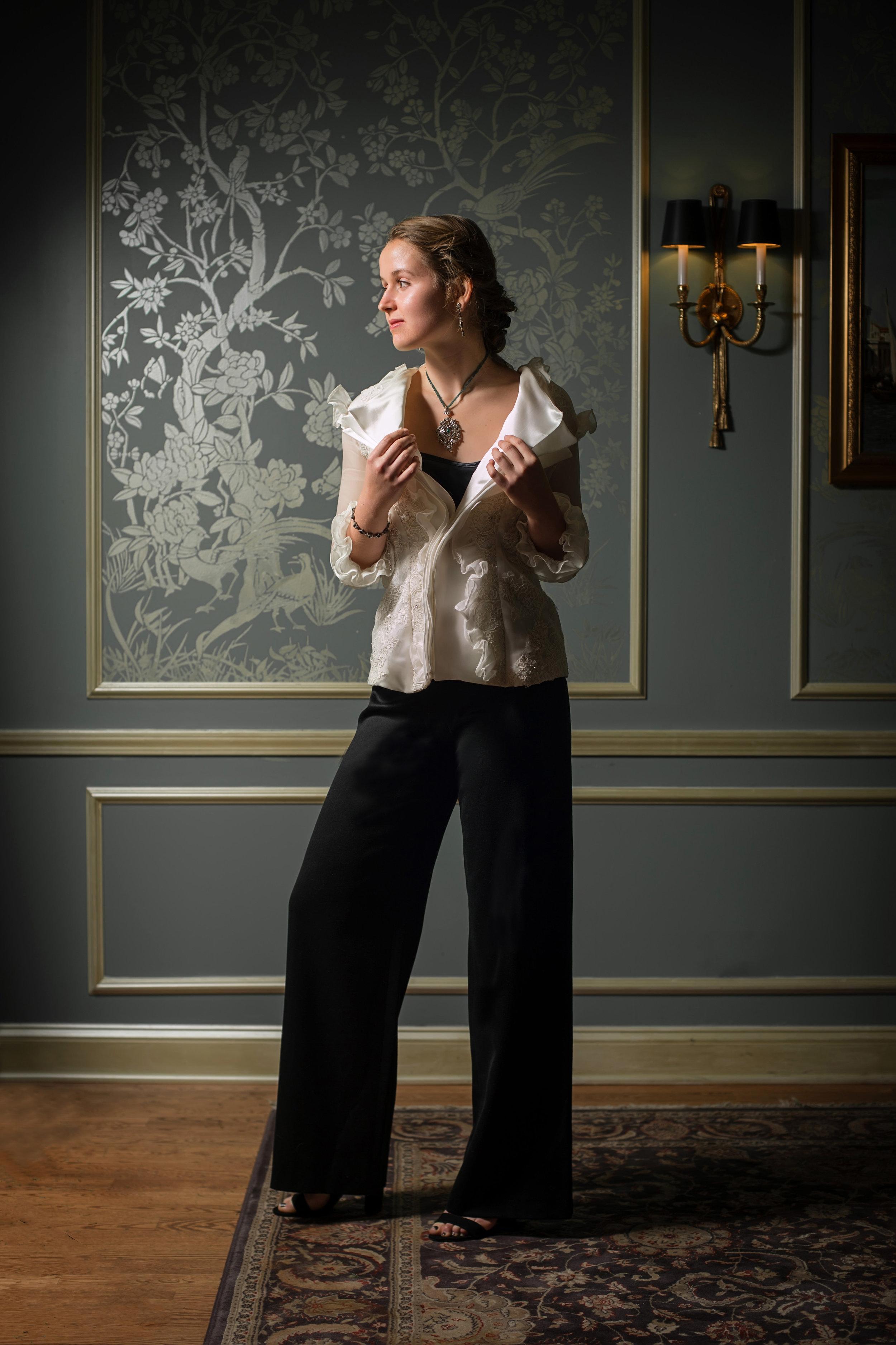 Full length organza jacket with pants.jpg