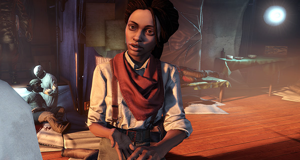 via rockpapershotgun.com  Daisy Fitzroy: Radical activist in  Bioshock Infinite . Her character dies in trying to fight for equality. She is in opposition to the hierarchy scene within the game, and expresses dissatisfaction in the main character until you aid in her cause. However, the perpetuation of her in black womanhood diverts the player away from her character and cause and fixates on her causation of chaos within the game. In her death, she is idolized as a martyr.