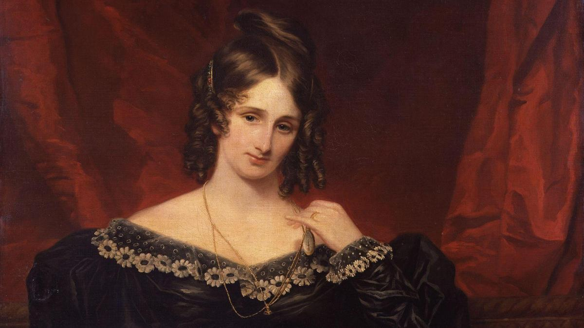 Mary Shelley, 1831. By Samuel John.