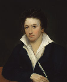 Percy Bysshe Shelley,  Portrait of Shelley  by Alfred Clint, 1829.