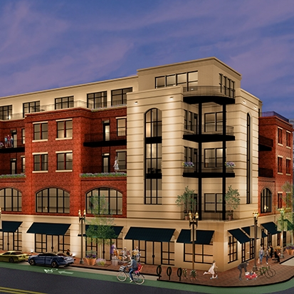 Elmwood Avenue Mixed Use - A five-story mixed use building transforms a surface parking lot into retail, office and apartments. With municipal approvals, this project will commence in fall of 2019.