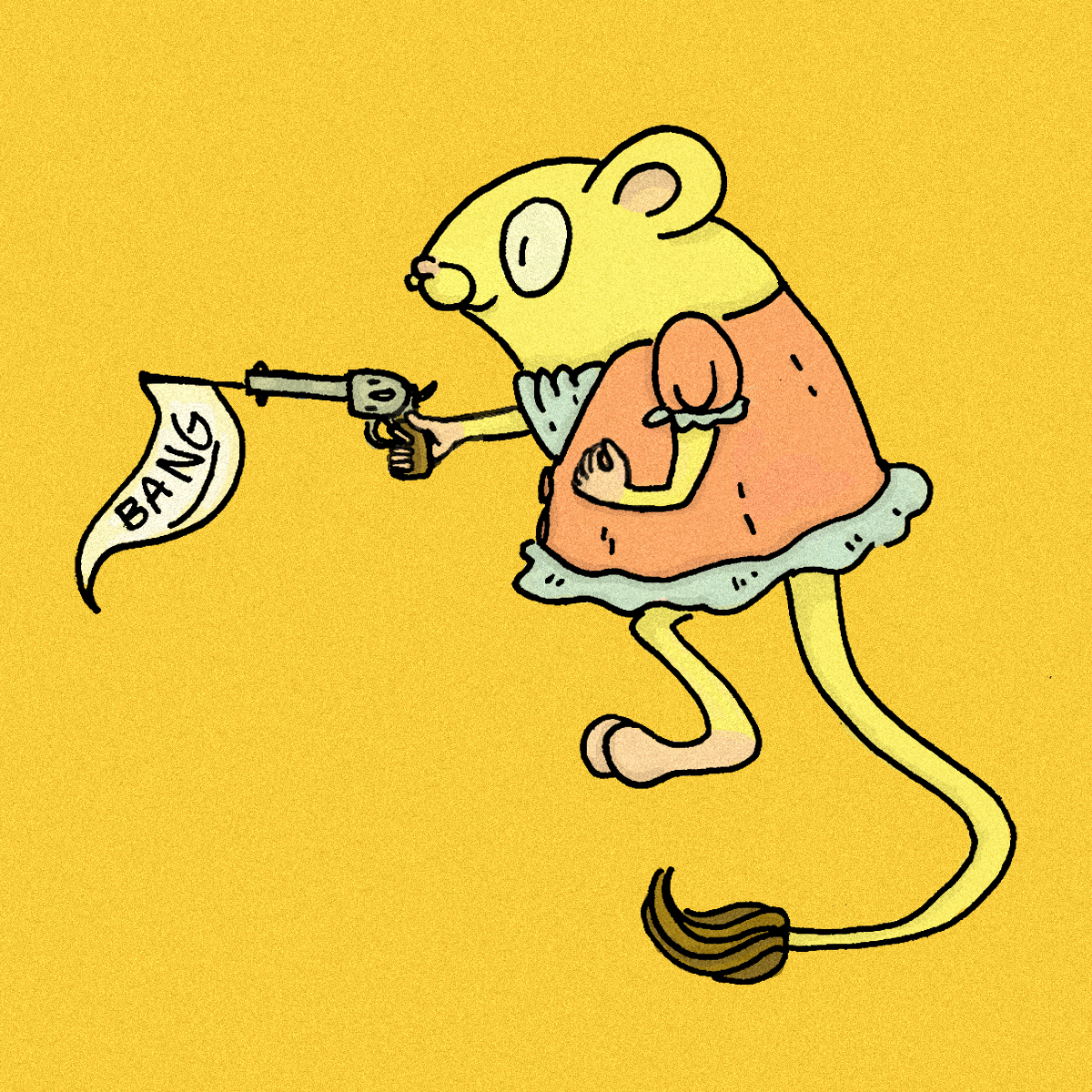 Penelope the Kangaroo Rat Design for  Rattlesnake Richard   (ink and digital coloring)