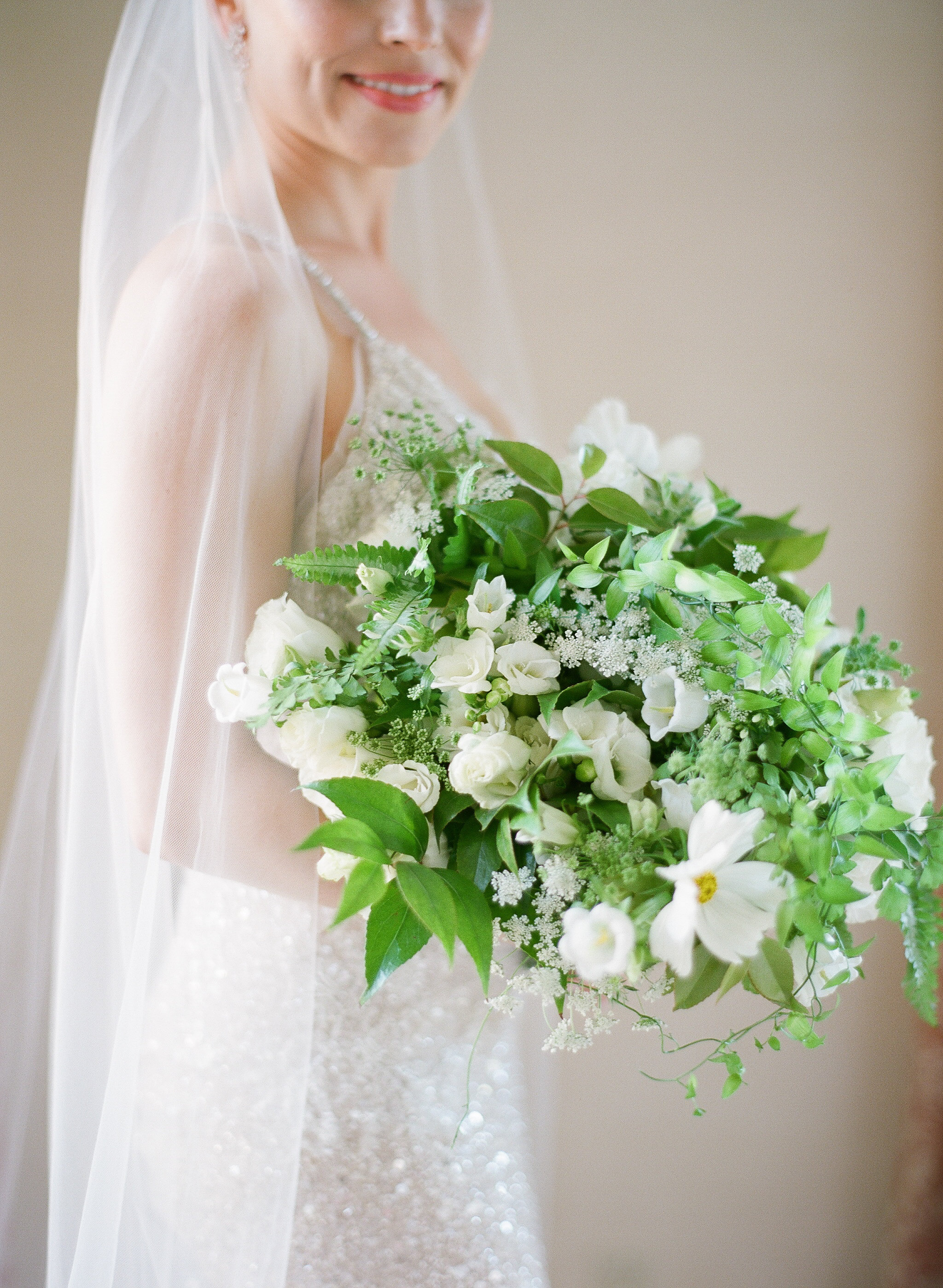 Photography -  Michelle Beller Photography   White Cosmos - Summer  White Campanula - Spring/Summer/Fall  White Freesia - Year Round  White Lisianthus - Year Round  Queen Annes Lace - Year Round  Variegated Fern - Year Round