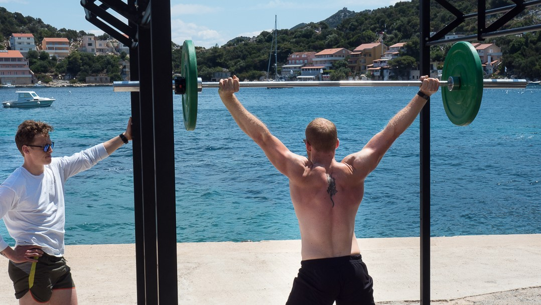 Olympic Lifting by the sea