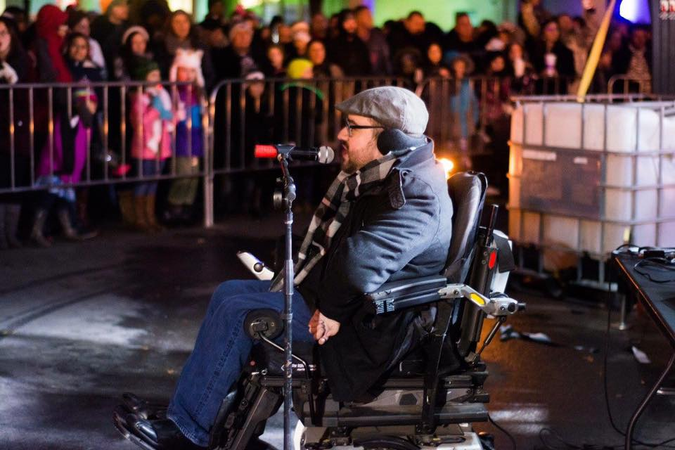 Kevin Showalter at the inaugural New Year's Eve Ball Drop in Fort Wayne