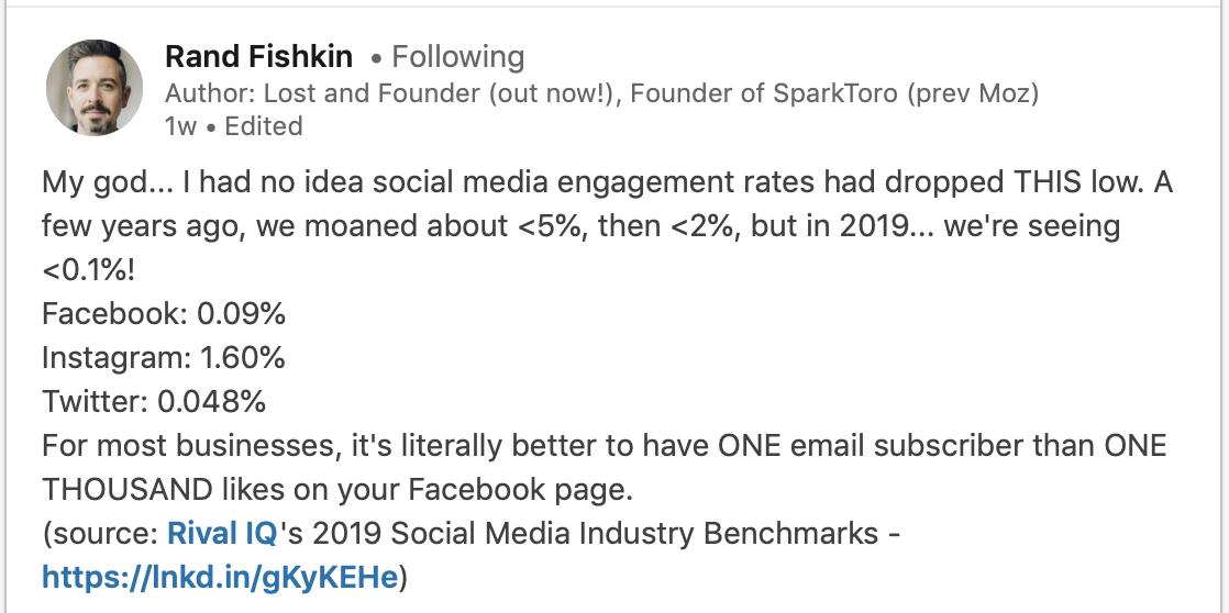 https://www.rivaliq.com/blog/2019-social-media-benchmark-report/