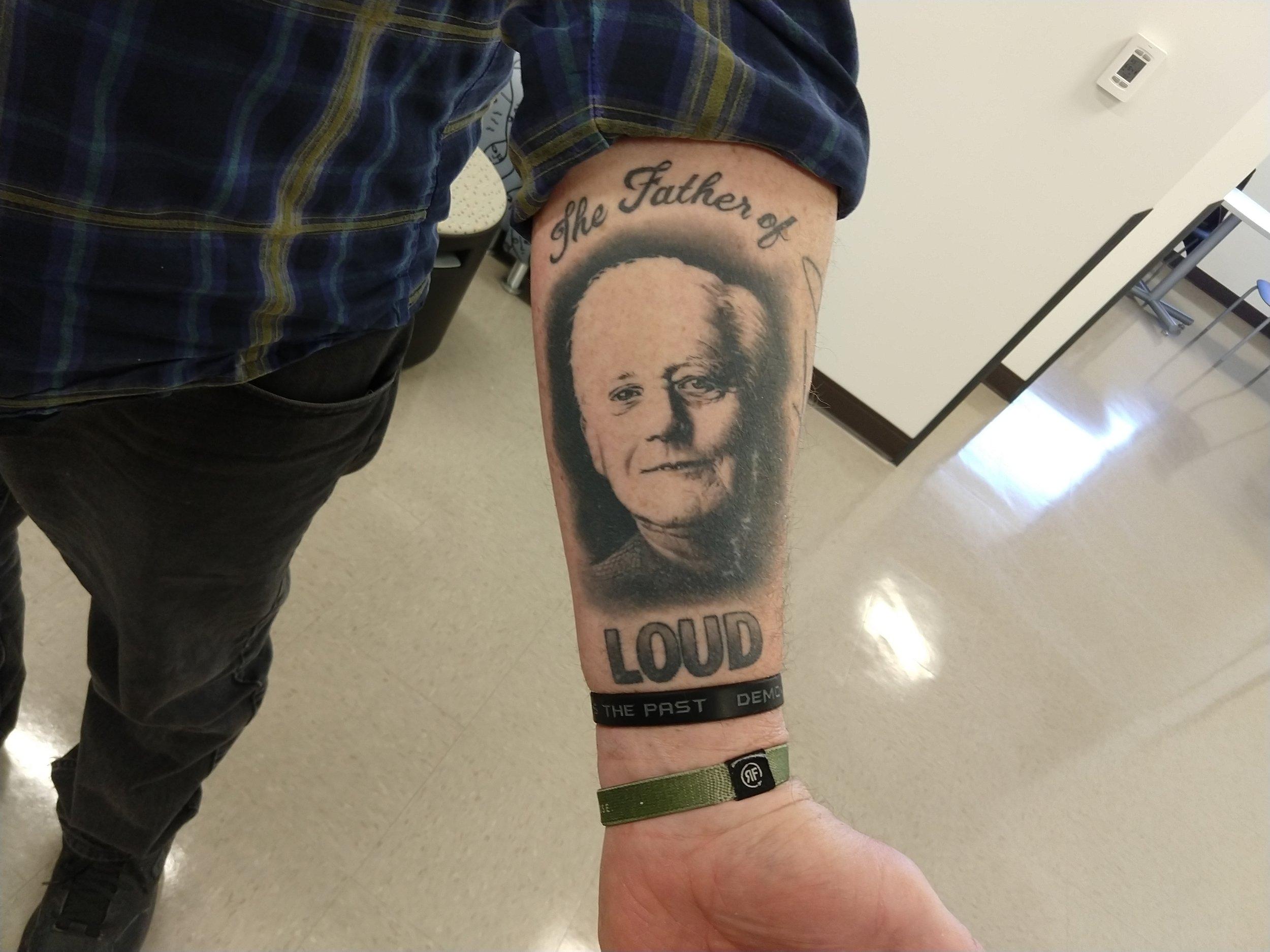 Nick's tattoo of Jim Marshall