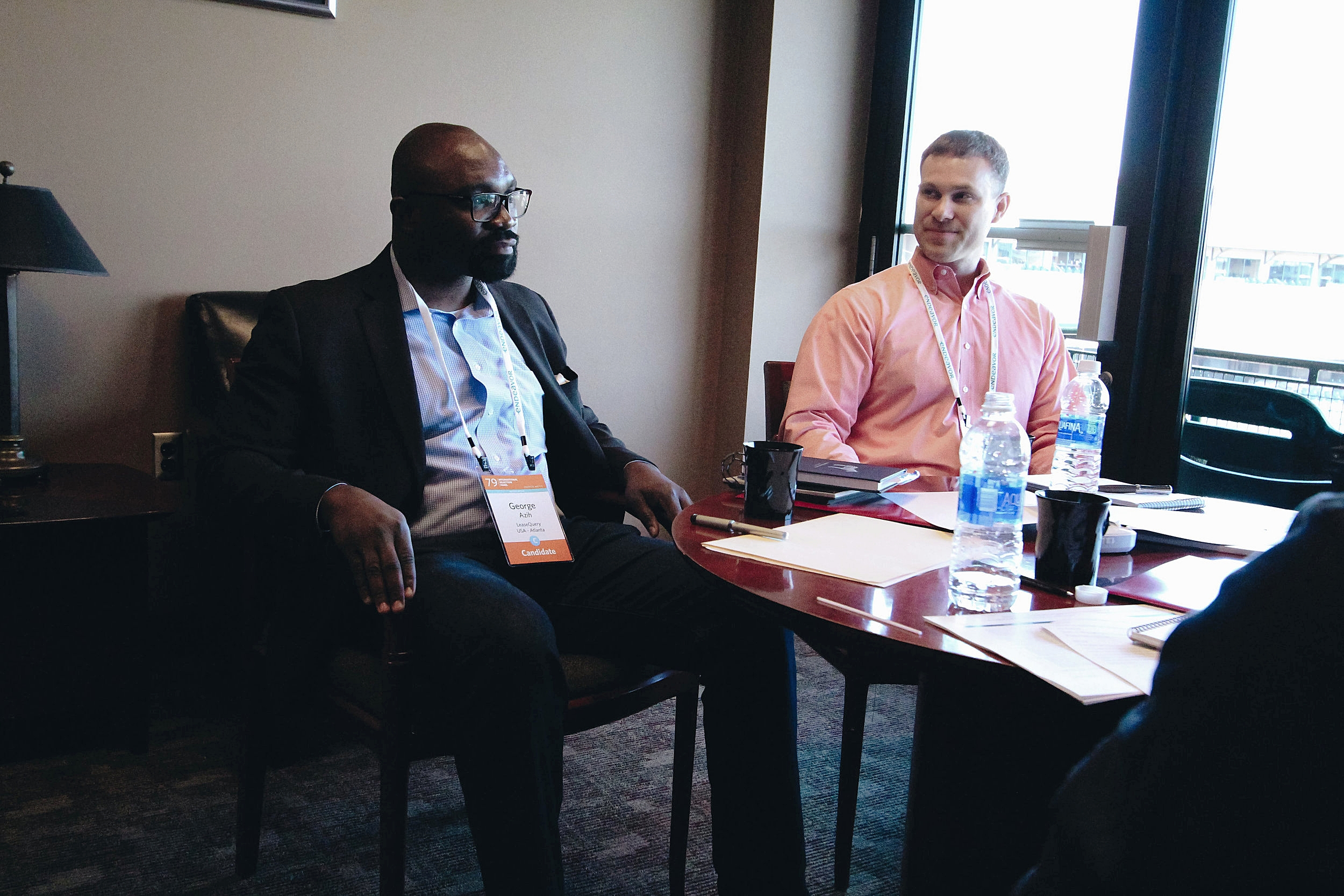 George and Chris interview with panelists at the 79th International Selection Panel in Louisville, Kentucky.