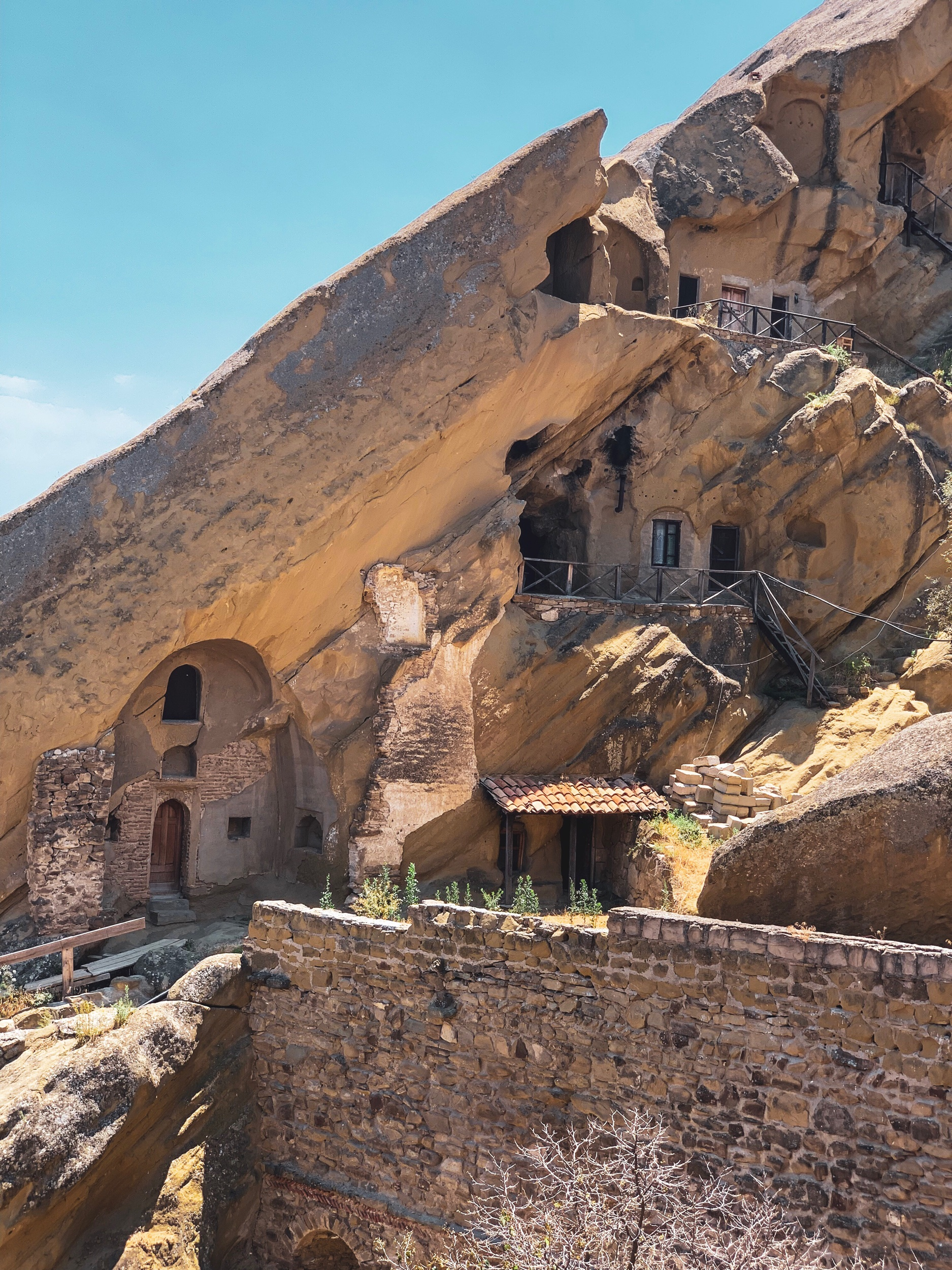 Monks quarters in the cave monastery of David Gareji