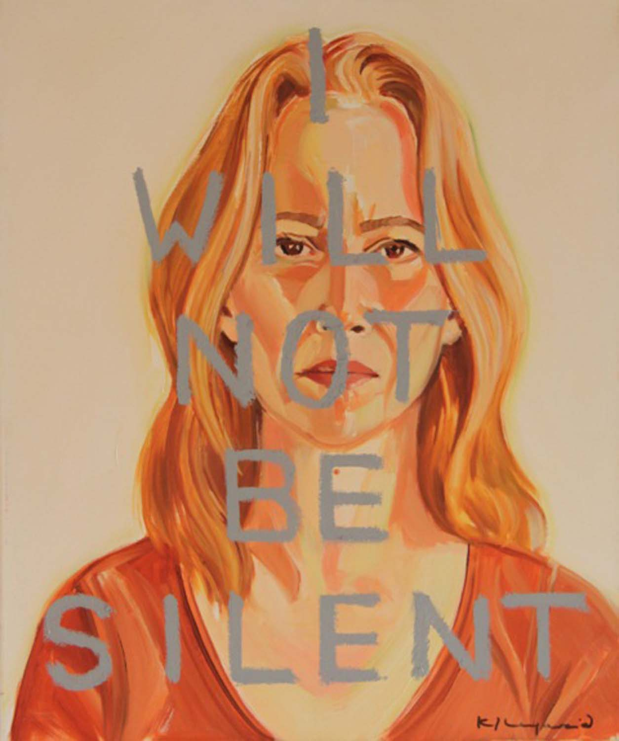 I Will Not Be Silent (Self-Portrait)  , 2009 & 2017