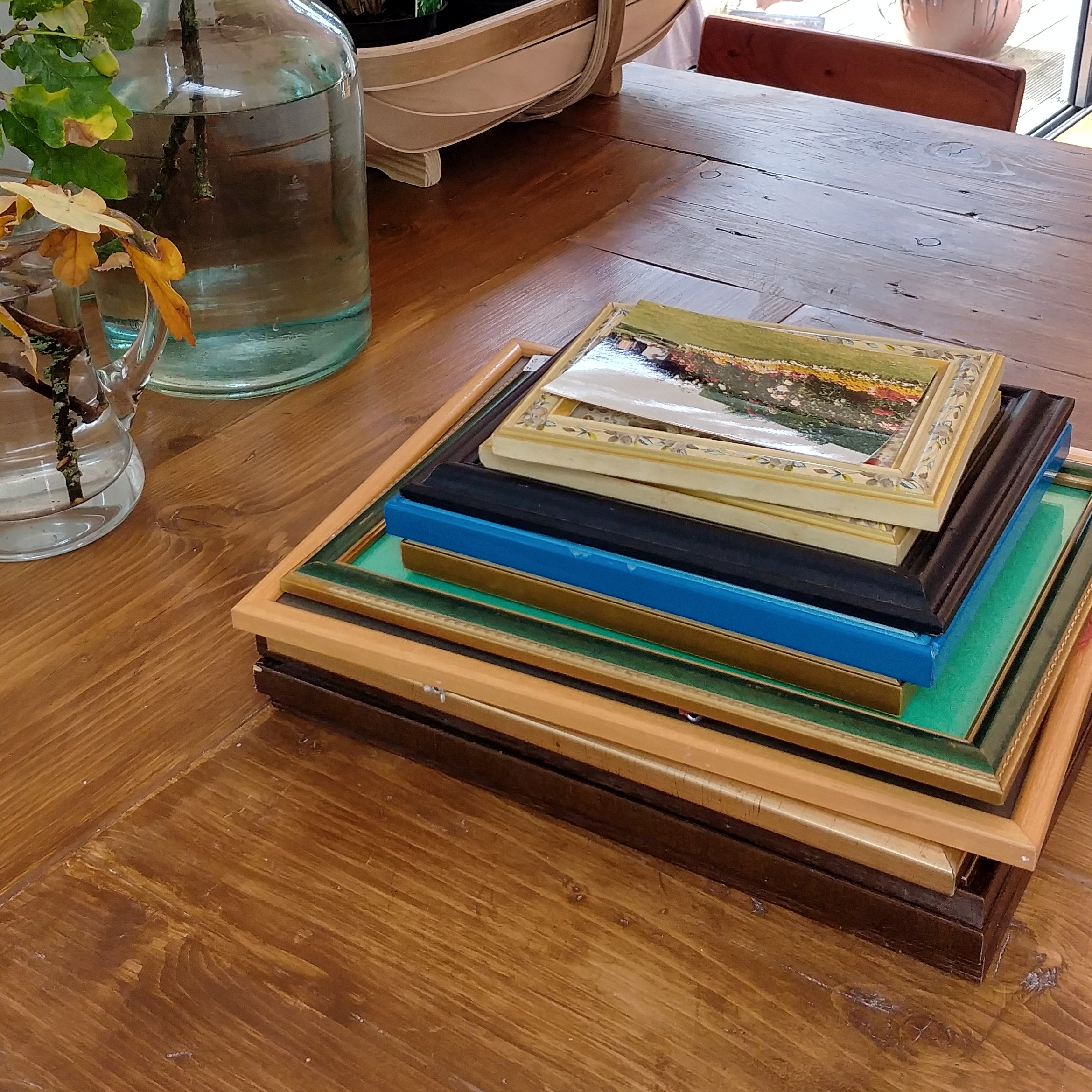 This stack of frames sat on the island for about two months before I got round to using them.