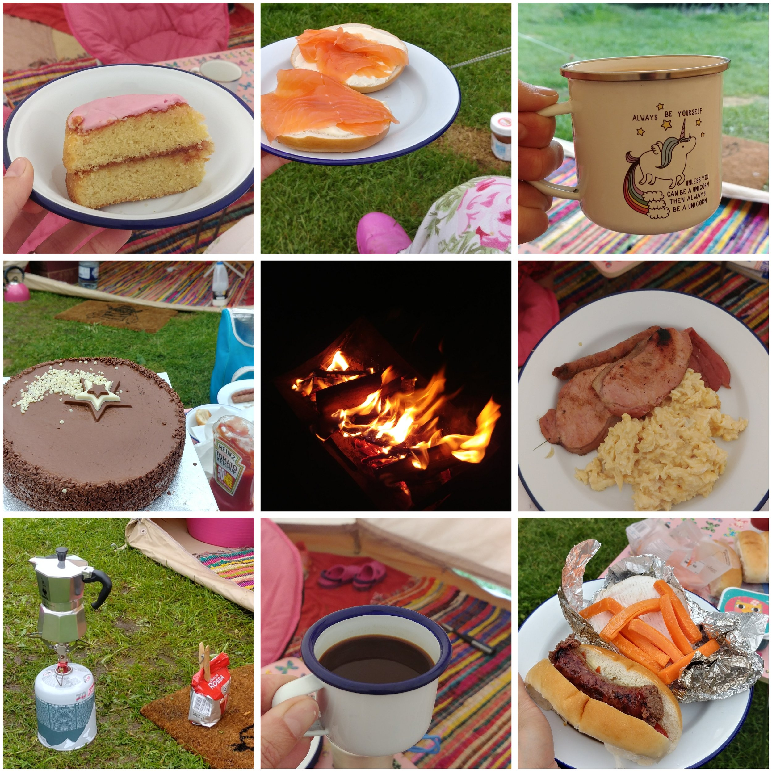 More camping food - mocha pot and ceramic espresso cups essential!