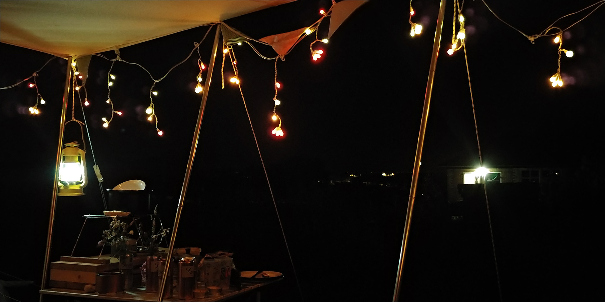 I bought these outdoor fairy lights years ago in a Habitat sale, and they're still going strong.