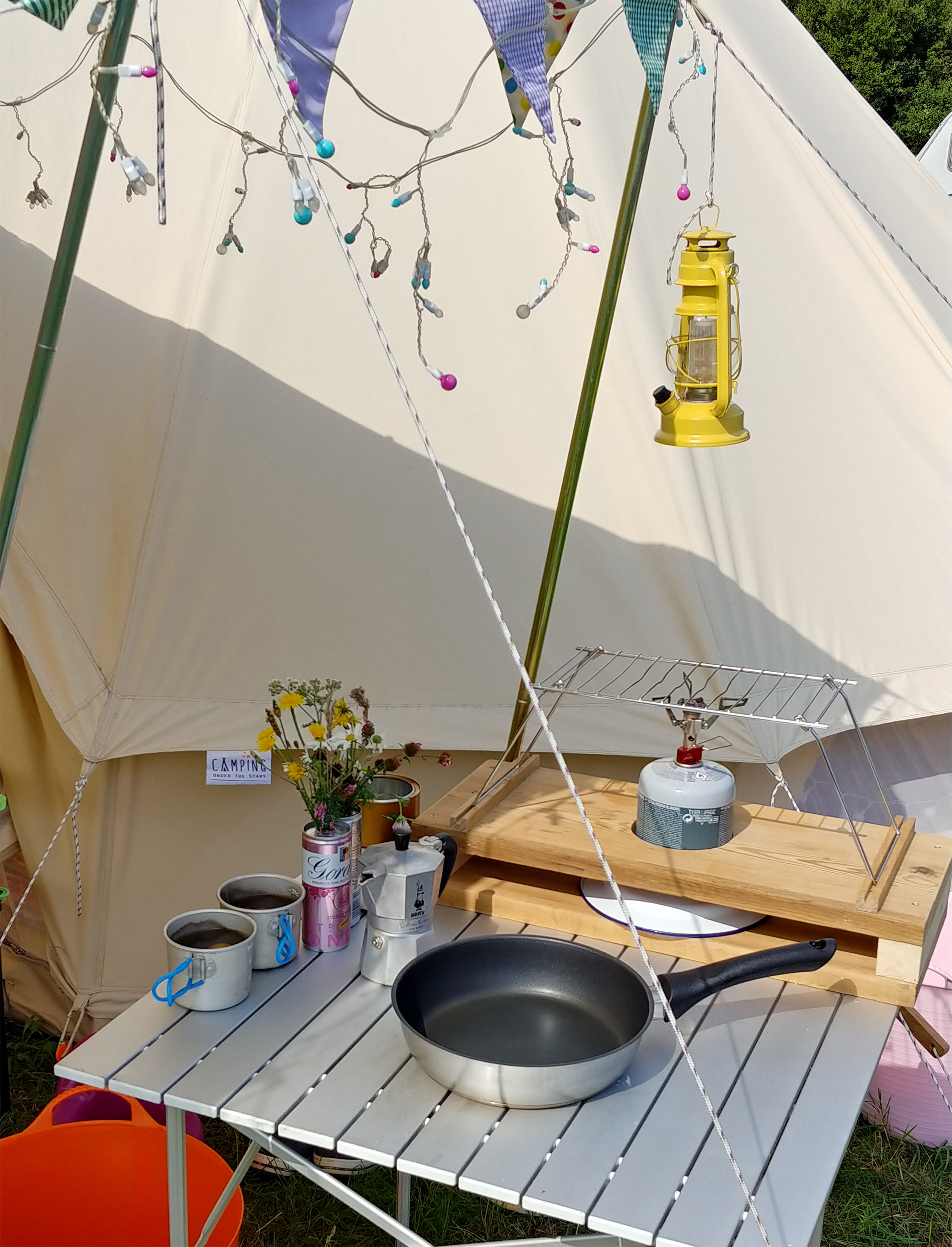 Camping kitchen.