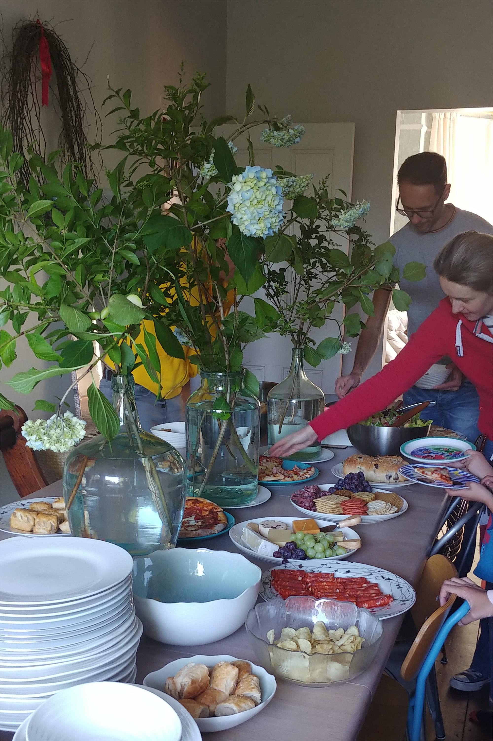 Solstice grub. The hydrangeas were foraged locally ;-)