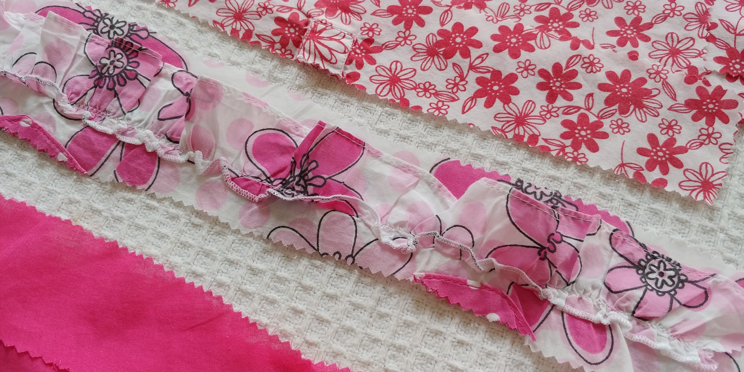 The ruffle strip came from the bottom of a 12-18 month old baby top.