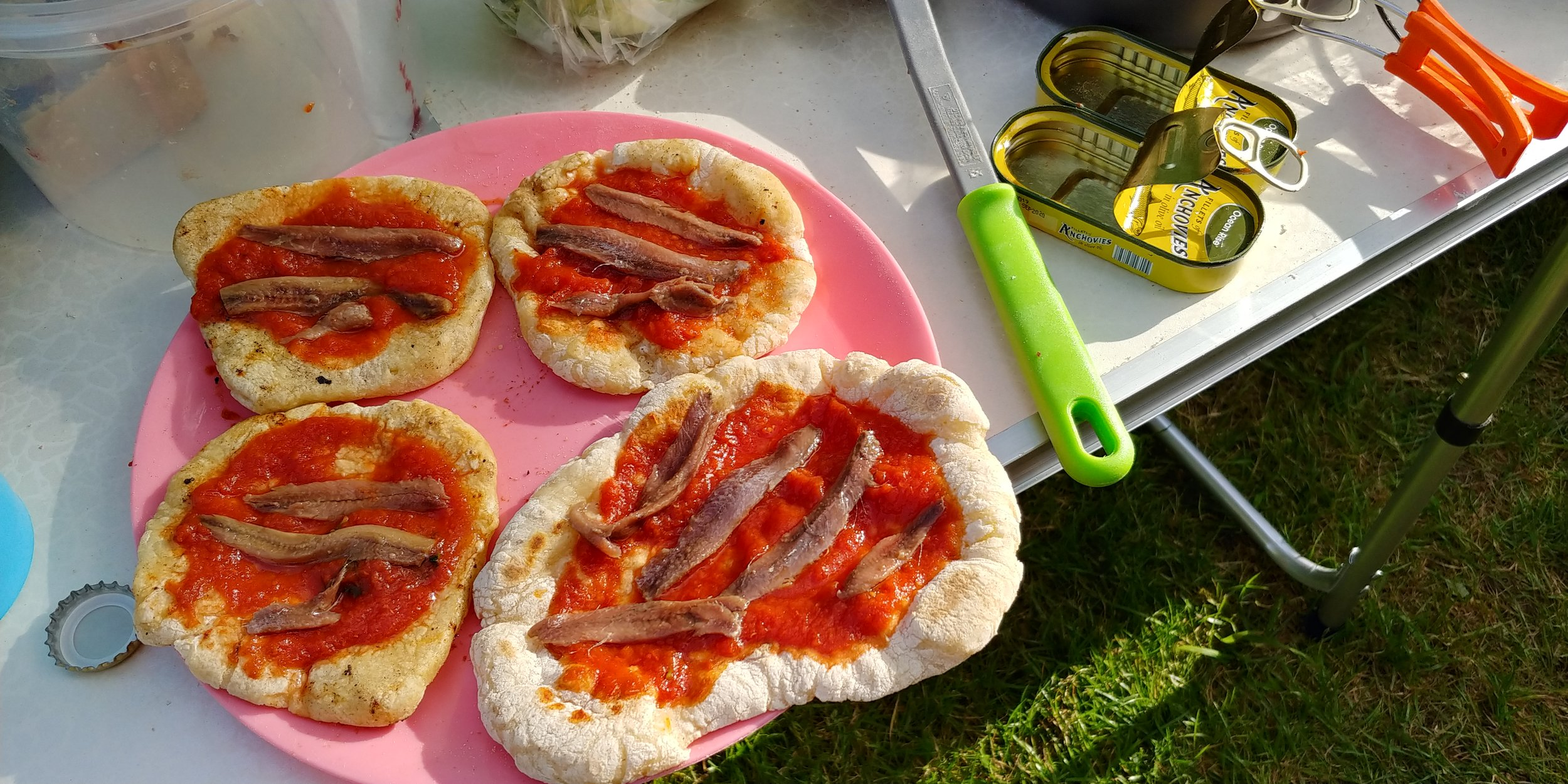 Camping cuisine, Italian style.